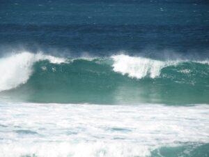 Crashing ocean wave
