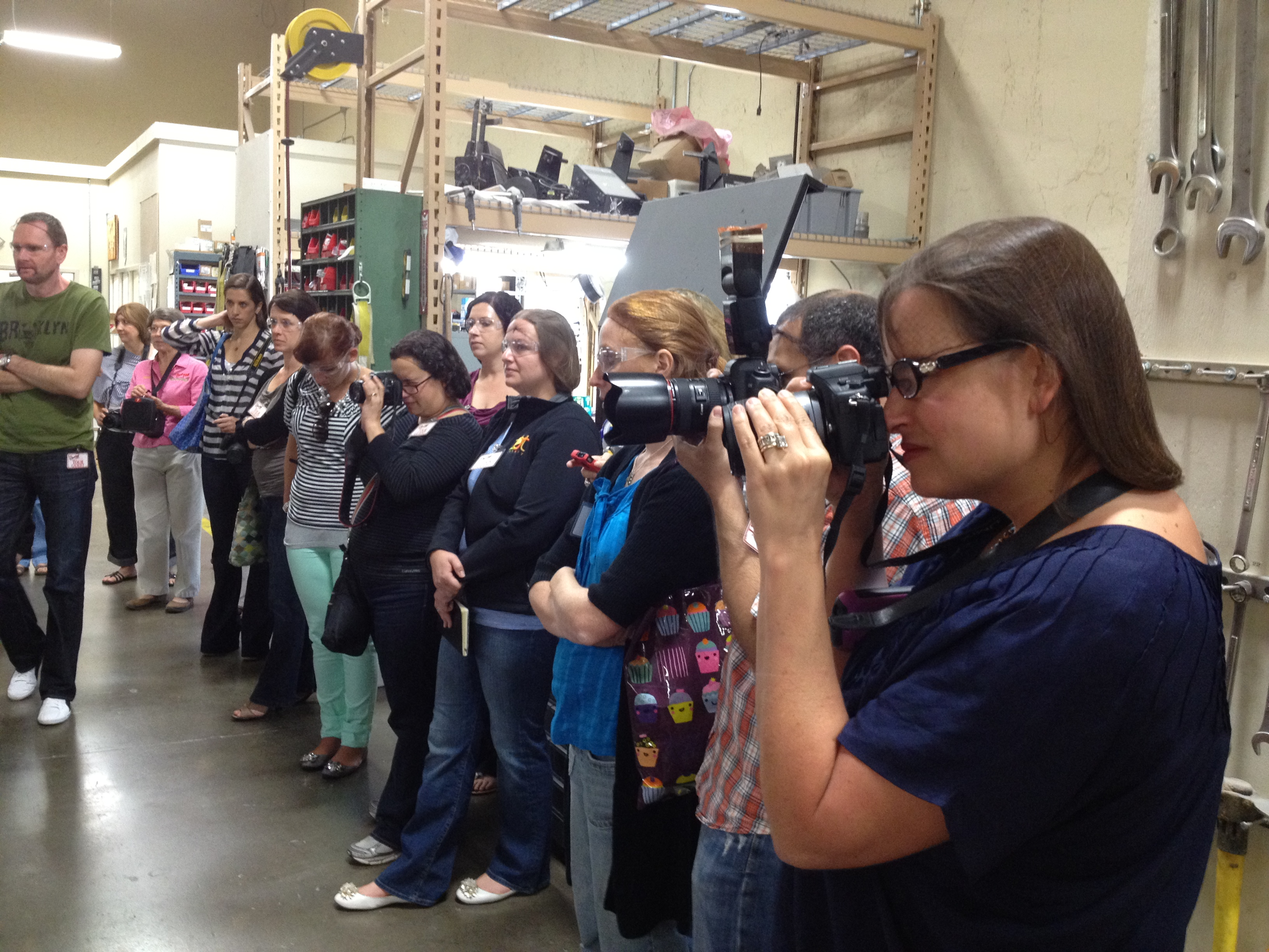 Bloggers on tour at Bob's Red Mill