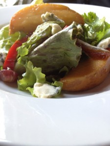 Roasted Peach and Date Salad