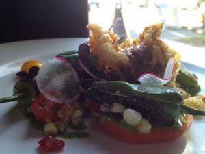 Chanterelle, Corn and Tomato Succotash