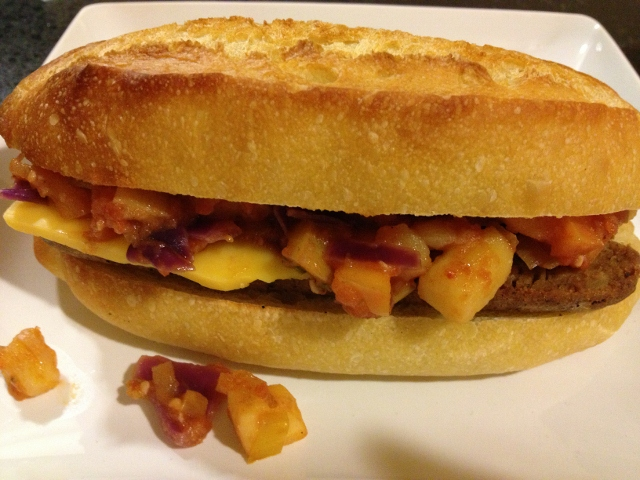 Sage, Apple and Sausage Sandwich with Field Roast