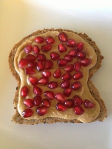 Peanut butter and pomegranate