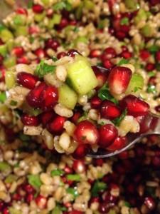 Barley salad with pomegranate