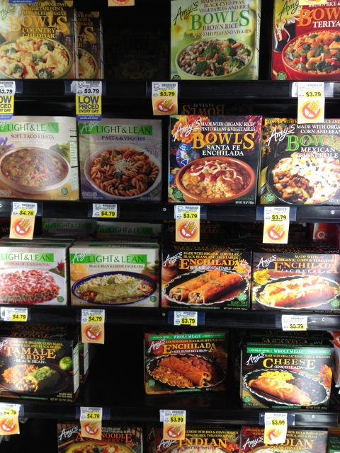 Freezer at grocery store