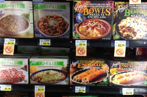 Amy's frozen foods