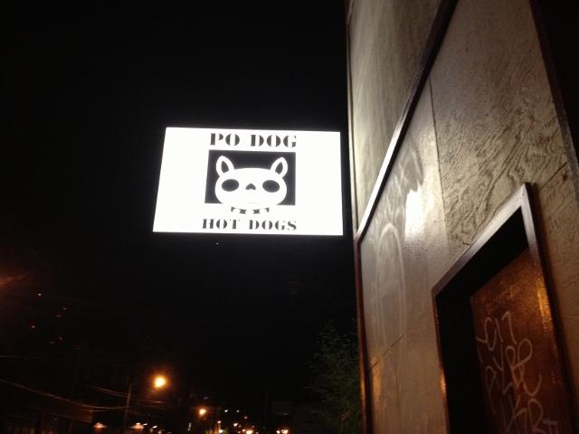 Po Dog sign
