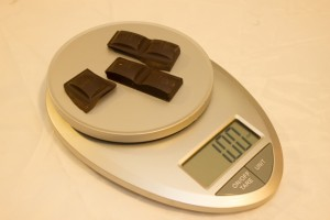 One ounce of dark chocolate