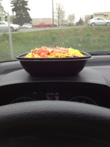 Fit Hit Bowl on the dashboard