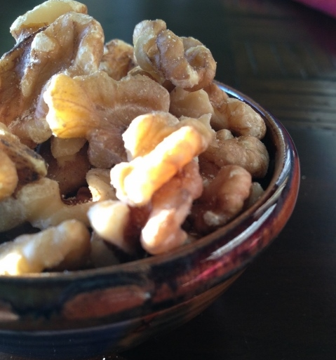Walnuts in a bowl