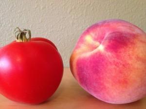 tomato and peach