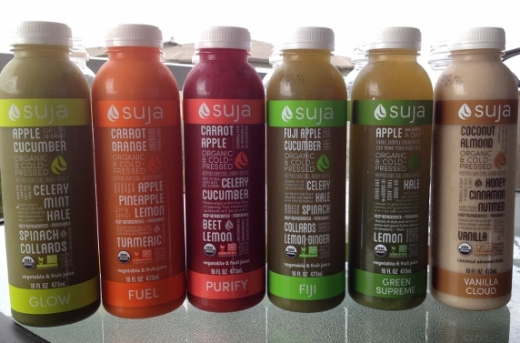 6 bottles of Suja juice