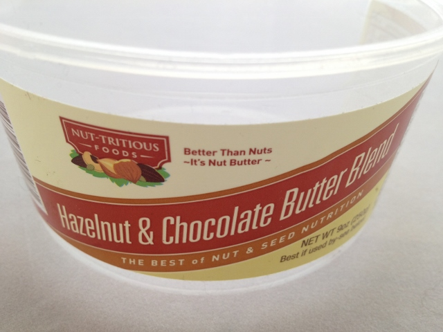 Nut-Tritious Hazelnut and Chocolate Butter Blend Container