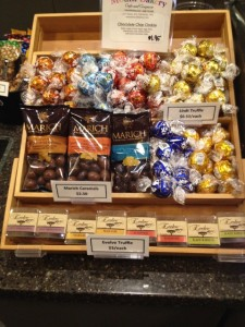 An assortment of chocolates at the Pickford Theater
