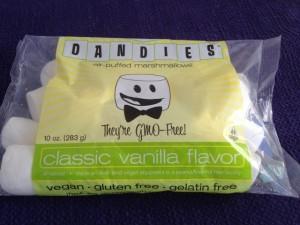 Bag of Dandies vegan marshmallows