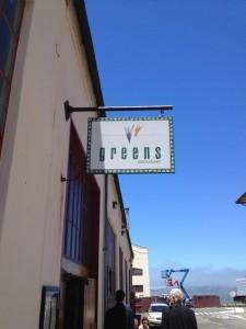 Greens Restaurant sign in San Francisco