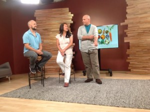 Todd Porter, Diane Cu on the Creative Live Set