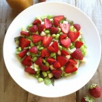 Sweet Strawberry and Edamame Salad