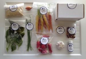 Blue Apron ingredients for Summer Vegetable Salad