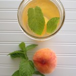Peach Mint Flavored Water