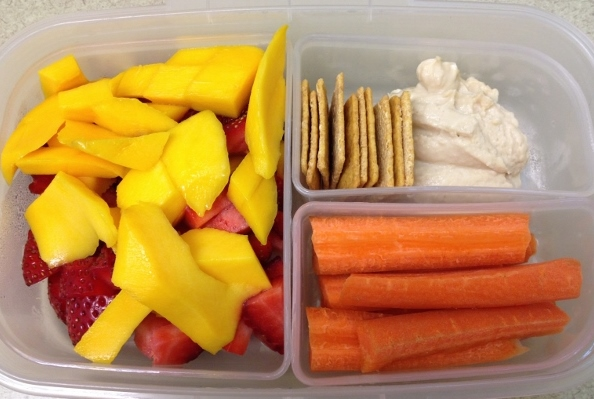 Hummus and Dippers Bento Lunch
