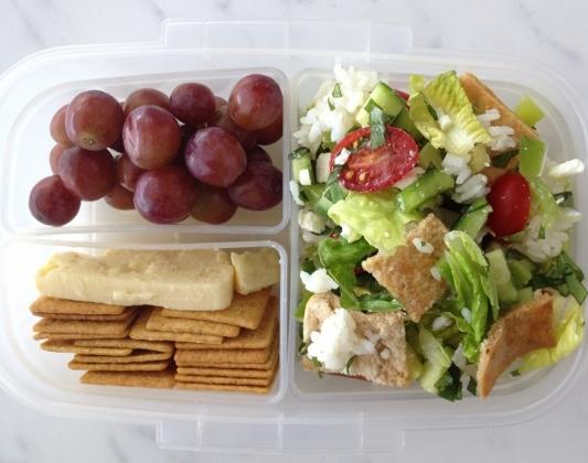 Fattoush Salad Bento Lunch