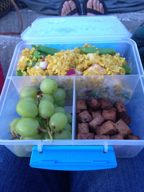 Curried Quinoa Salad Bento Lunch