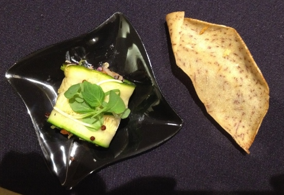 Zucchini Wrap with Tangy Slaw and Quinoa