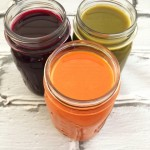 Carrot, beet and kale juice