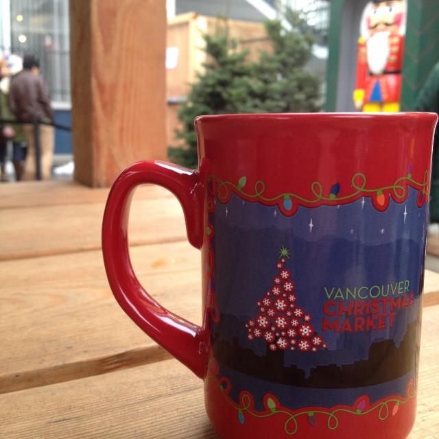 Vancouver Christmas Market collectible mug