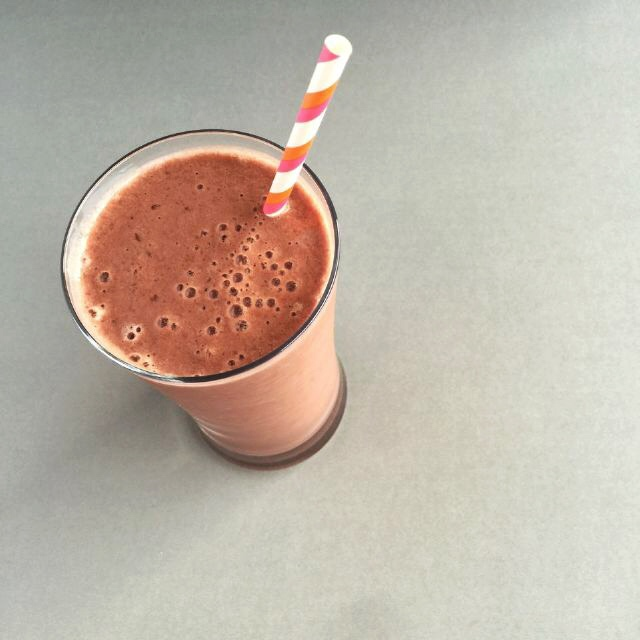 Chocolate and tart cherry smoothie