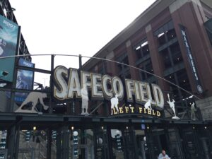 Picture of the sign at Safeco Field
