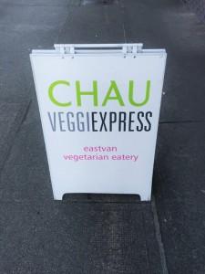 Chau Veggie Express sign