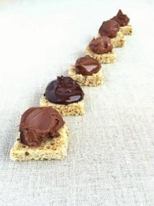 Chocolate-hazelnut spreads on toast