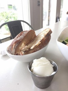 Bread with vegan butter at Seed NOLA