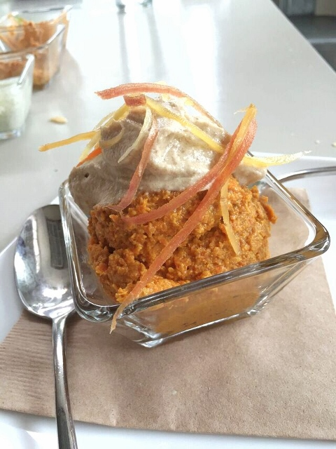 Raw Carrot Cupcake at Seed NOLA