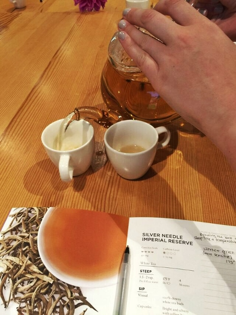 Pouring Silver Needle Imperial Reserve White Tea