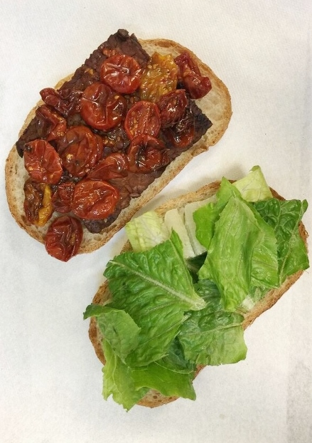 TLT: Tempeh Lettuce and Tomato Sandwich