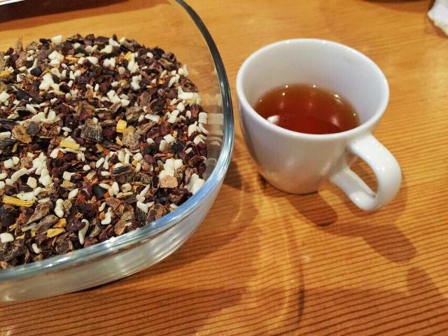 White chocolate peppermint tea