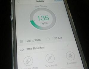 ihealth display blood glucose