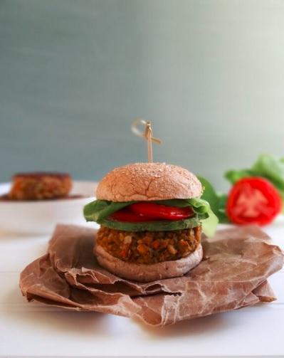 Farro and White Bean Veggie Burger