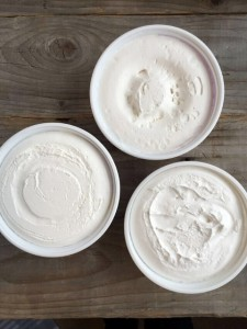 Tubs of whipped topping