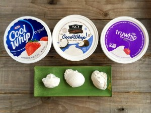 Whipped topping in tubs