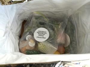 Purple Carrot ingredients in box