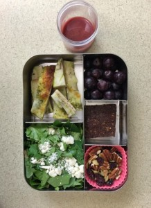 Pizza and salad bento lunch