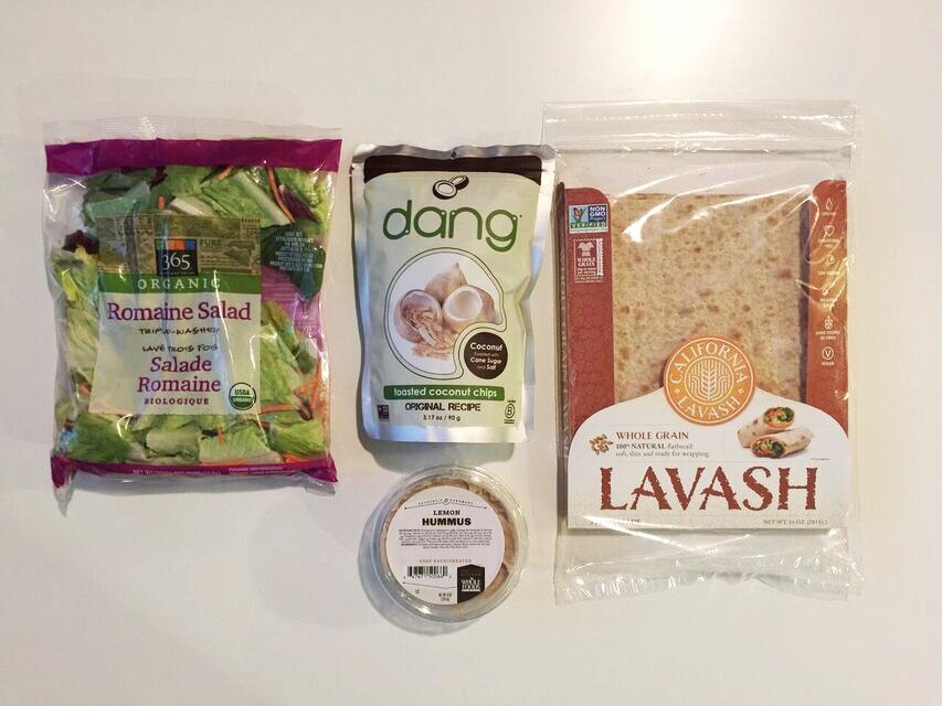 Coconut crunch wrap ingredients