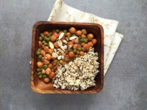 Warm red garbanzos top