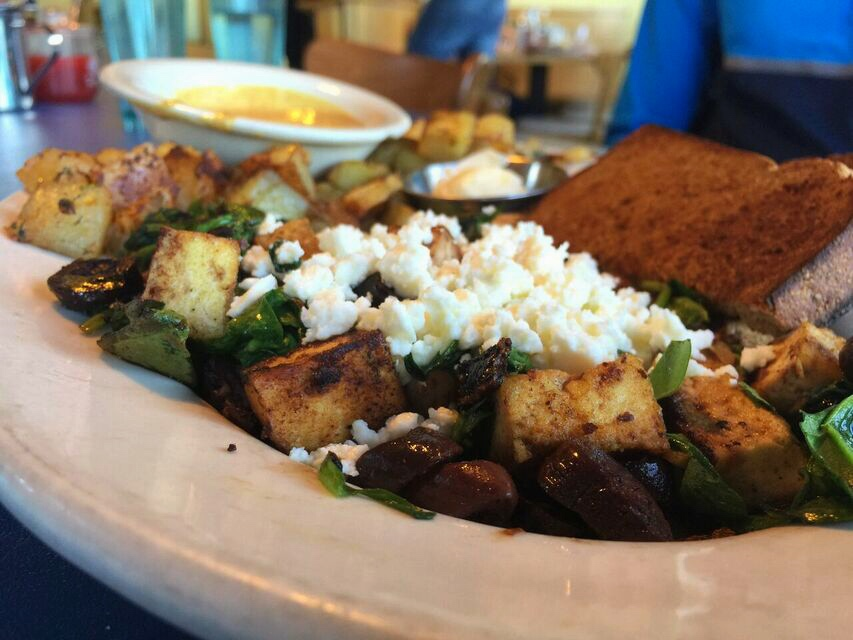 Old Town Cafe Greek Tofu Scramble