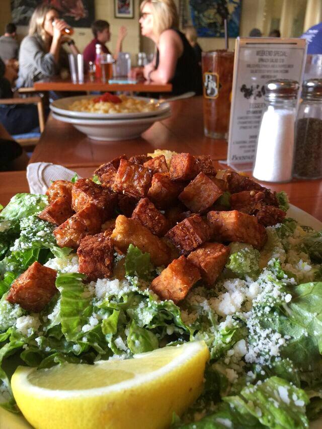 Tempeh Caesar Salad Boundary Bay