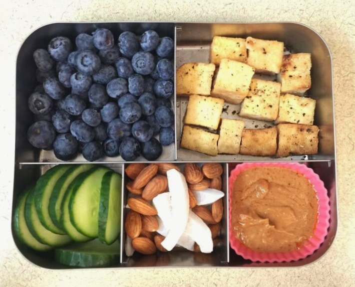 Salt and pepper tofu bento