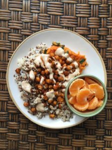 Garbanzos and sweet potatoes